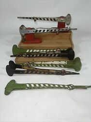 Lionel Lot Of 7 Pre War 77n And 152 Crossing Gates For Parts Or Repair 1920s 30's