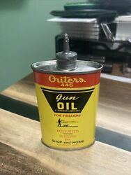 Vintage Outers 445 Gun Oil For Firearms Oval Lead Top Can Very Clean