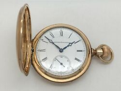Antique 1880and039s E. Howard And Co 15j Series V Pocket Watch 14k Gold B.w.c.co Recase