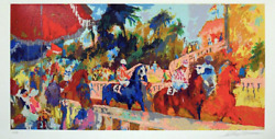Leroy Neiman Leaving The Paddock Signed And Numbered Serigraph Horse Race
