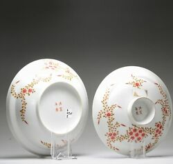 Antique Chinese Porcelain Republic Period Marked Tureen Flowers China