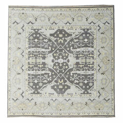 12x12 Square Oushak Area Rug Hand-knotted Wool Oriental Carpet 12'1 X 11'9