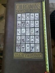 Churchman's Cigarette Card Original Poster 24 Inches By 11 Inches, 25 Cards