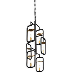 Varaluz 327f06agrb Bar None Pendant Aged Gold And Rustic Bronze