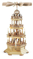 Table Pyramid Holy History With Angel 3-standoumlckig Electric Illuminated Natural