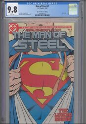Man Of Steel 1 Cgc 9.8 1986 Dc John Byrne Story, Art And Cover Collector Edition