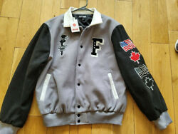 Full Send Varsity Jacket Menand039s Xl New With Tags Grey With Black Sleevesandnbsp