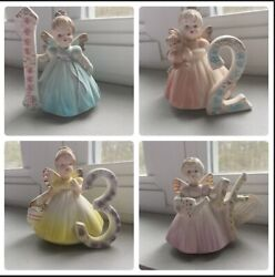 Josef Originals Birthday Angels Figurines Set Years 1-15 With Hang Tags