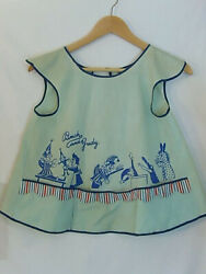 Rare Vintage Child Size Collectible Punch And Judy Apron W/ 3 Pockets Puppet Bib