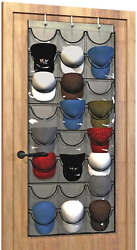 Baseball Hat Rack From Unjumbly 24 Pocket Over-the-door Cap Organizer With Clea