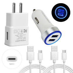 Dual Ports Usb Car Charger Wall Adapter Type C Cable For Google Pixel 2 Xl 3a 4a