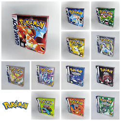 Pokemon Reproduction Replacement Boxes for Game Boy All versions Inner Trays