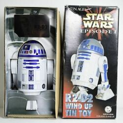Osaka Tintoy Star Wars Episode 1 R2-d2 Wind Up Tin Toy Limited Very Rare Unused