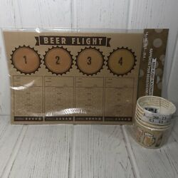 New 24 Beer Flight Paper Placemats And 6 9oz Snack Cups