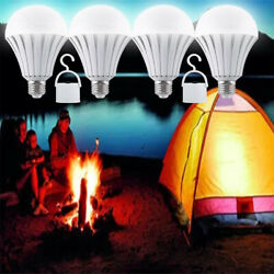 Rechargeable Outdoor Night Market Lamp Led Bulb Intelligent Light 12w4 Pack)