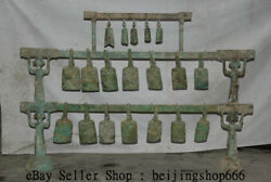 50.8 Old Chinese Bronze Ware Dynasty Musical Instruments Chime Zhong Bell Set