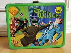 Vintage The Green Hornet Lunch Box And Water Bottle 1967 - One Owner
