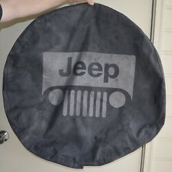 2001/07 Jeep Wrangler Liberty Spare Tire Cover Oem Part Willys Mb Logo Used