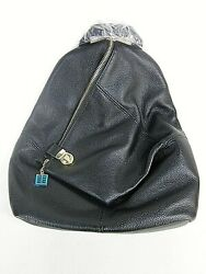 GENUINE LEATHER BACKPACK WOMENS SHOULDER PURSE ANTI THEFT BAG BLACK NEW WITH TAG $48.00