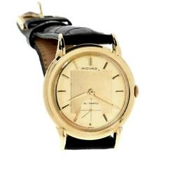 Movado Vintage Automatic Cal.115 18k Gold Leather Band Menand039s Watch 8443