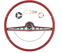 Oer Red Steering Wheel Kit And Horn Button 1963 Chevy Impala Bel Air Biscayne