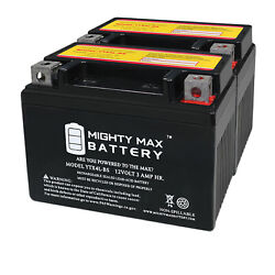 Mighty Max Ytx4l-bs Sla Battery For Ride On Mower Atv Quad Trail Buggy - 2 Pack