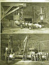 John Roach And Sons Ship Building Works Shaft For Pilgrim 1882 Matted W Full Story