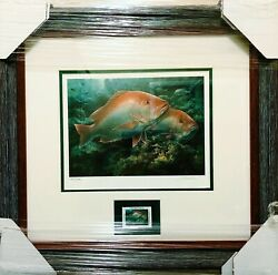 Diane Rome Peebles 2000 Coastal Conservation Assoc.stamp Print And Stamp New Frame