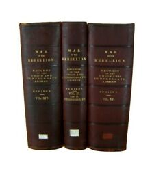 Civil War History Books War Of The Rebellion Official Records 1899 Leather Set