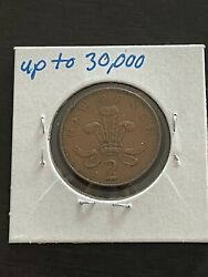 Rare Vintage - 1971 2 New Pence Queen Elizabeth Ii - New Pence Release Year 2p