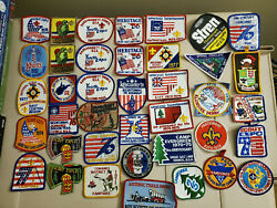 Large Lot Of Boy Scout Patches Vintage