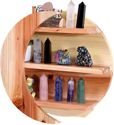 Moon Shelf Extra Large For Crystals Wooden Floating Crescent Display Shelf Hea