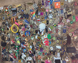 Huge Lot Of 300+ Keychains Key Rings Fob 15lbs Charm Ad Promo Souvenir Novelty