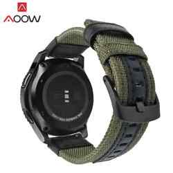 Watch Strap F Samsung Gear Classic Frontier Nylon Leather Band Quick Release Pin