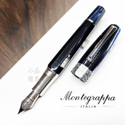 Montegrappa Limited Edition 888 Extra Otto Butterfly Blue 18k Fountain Pen