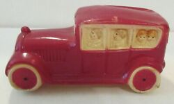 Antique Viscoid Celluloid Red Lmousine Car Baby Rattle Usa