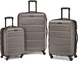Samsonite Omni Pc Hardside Expandable Luggage With Spinner Wheels Silver 3-pie