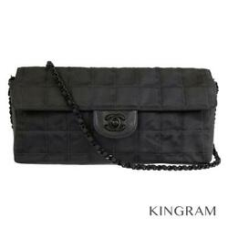 CHANEL New travel line Chocolate bar A15316 black Cross Body Bag from Japan $1507.00