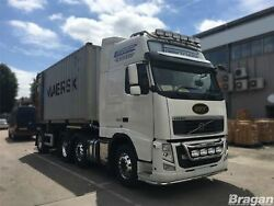 To Fit Volvo Fm Series 2 And 3 Globetrotter Xl Roof Bar + Jumbo Spots + Flush Led