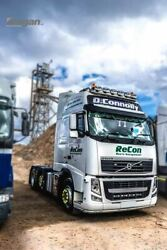 To Fit Volvo Fh Series 2 And 3 Globetrotter Standard Roof Bar+ Led Spots+flush Led