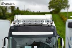 To Fit Volvo Fh Series 2 3 Low Cab Roof Light Bar + Jumbo Spots + Clear Beacons