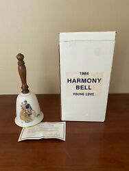 Vintage 1984 Gorham Norman Rockwell Young Love Bell In Original Box With Coa