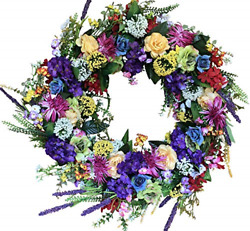 The Wreath Depot Ardmore Spring Front Door Wreath 22 Inch Gorgeous Faux Spring