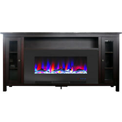 Cambridge Somerset 70-in. Mahogany Electric Fireplace Tv Stand With Multi-color