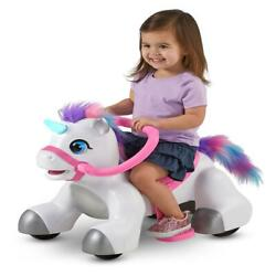 Rideamals Unicorn Ride-on Toy By Kid Trax 6-volt Toddler Powered White New