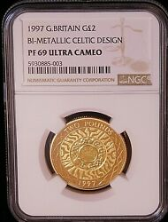1997 Great Britain Gold 2 Sovereign Ngc Pf69 Ultra Cameo Gorgeous Coin Pq D22