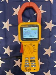 Fluke 345 Power Quality Clamp Meter And Accessories In Soft Case. Light Use.