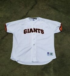 Authentic Barry Bonds San Francisco Giants Russell Athletic Jersey Size 52 2xl