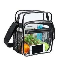 Clear Bag Stadium Approved Clear Crossbody Messenger Shoulder Bag with $24.95