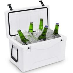 64 Qt. Fishing Hunting Ice Chest Cooler Heavy Duty Outdoor Insulated White